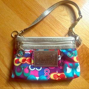 COACH colorful wristlet / purse